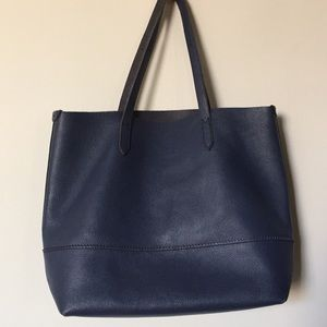 J. Crew Downing Tote in Navy Leather